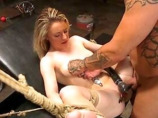 Enslaved Teenager Sits Restrained And Butt Fucked Relentless