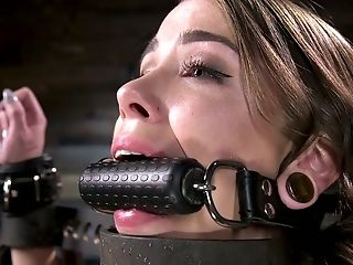 Crucified Tattooed Cutie Krysta Kaos Gets Her Cunt Finger Fucked And Penalized