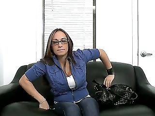 Its For The Very Very First Time That Jasmin Is Attending A Porno Casting And Boy Does She Come Well-ready! See Her Displaying Off Her Intense Forms I