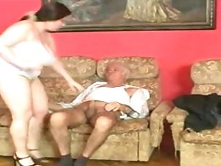 Fat Swedish Dame Gets Fucked Hard On A Sofa By Manager