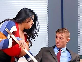 Sexy Dark Haired Bbw Sofia Rose Does Dirty Deeds In The Classroom
