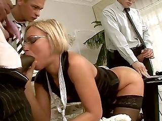 Brief Haired Smoking Hot Blonde Szilvia Lauren With Pretty Face