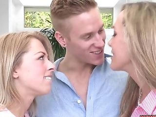 Teenager And Cougar Dual Oral Pleasure With Brandi Love And Zoey Monroe