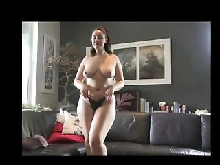 Hot Curvy Phat Ass Milky Girl Dark-haired Undressing And Getting Naked