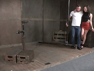 Tied Up Subjugated Cangue Alex More Gets Cruelly Mouthfucked By Stud