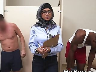 Muslim Stunner Mia Khalifa Drains Off Two Suspending Hard Spears