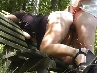 Crazy Wifey Gets Gang-fucked At Outdoor Dogging Catches Sight Of