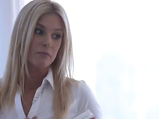 Horny Long-legged Blondie India Summer Lures Her Co-employee To Be Fucked On Table