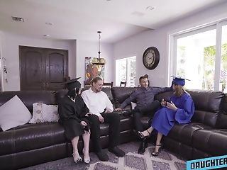 Wild 4 Way Hump On The Couch With Hot Honies Hazel Heart And Remi Jones