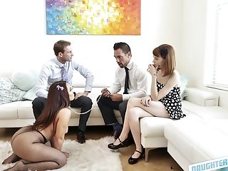 Deviant Brown-haired Chick Likes Nothing More Than Getting Her Cunt Fucked
