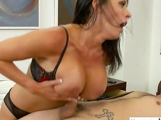 Curvy And Supah Duper Hot Milfie Prof Reagan Foxx Is Hammered On The Table