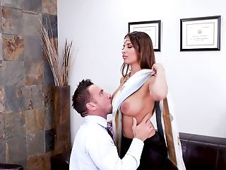 Anissa Kate Comes To Visit Her Friend And Fucks With Him Very Hard